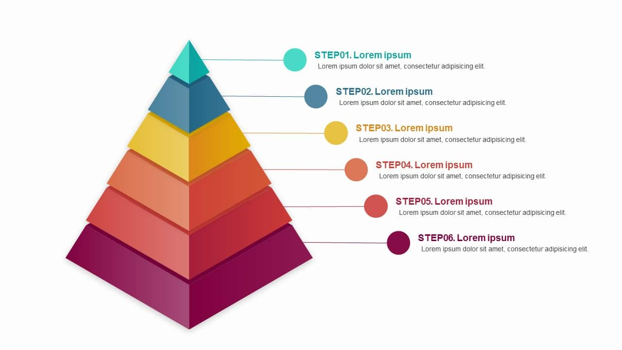 Pyramid 6 Steps Diagram Charts Free Google Slides Theme And Powerpoint Template Pptmon