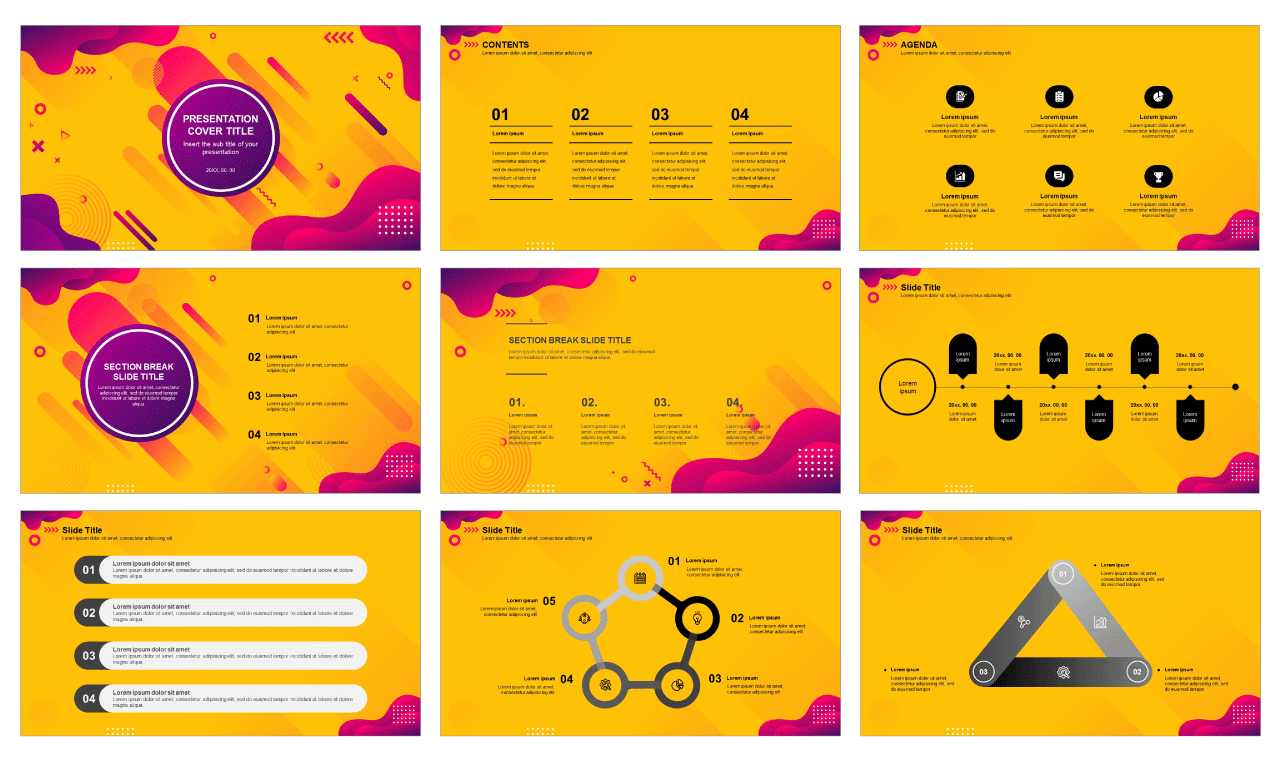 Yellow business analysis Free google slides and powerpoint template