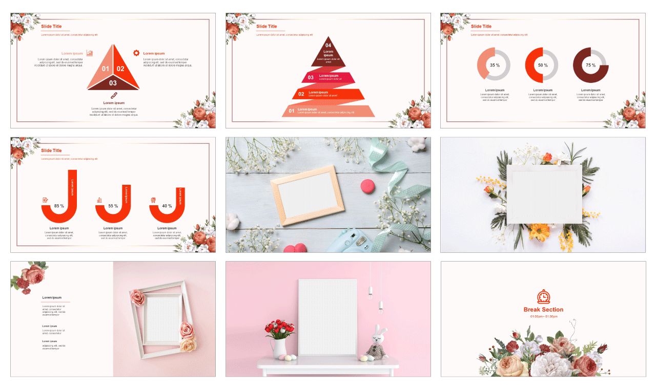 Beautiful Flower Free google slides template