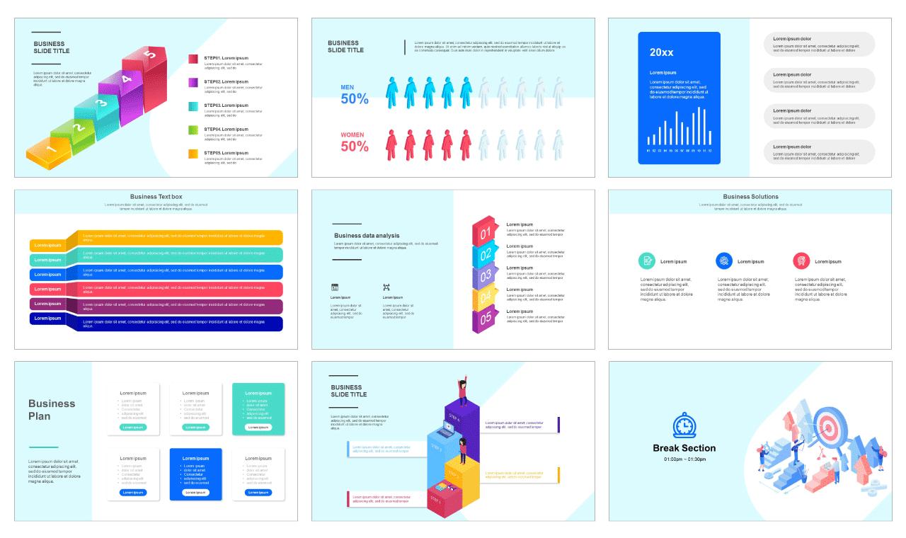 Business data analysis Free google slides template