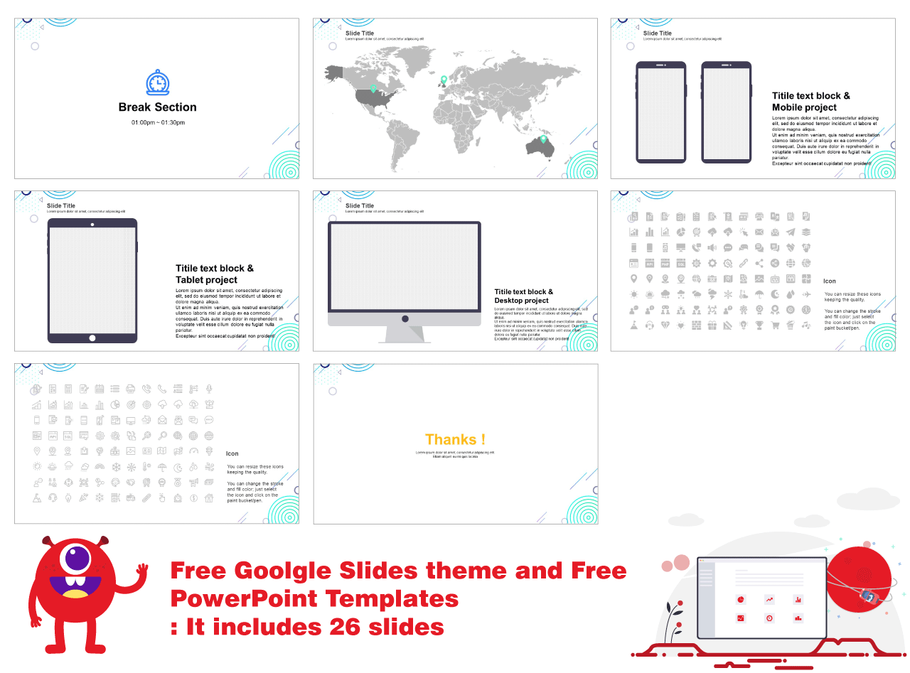 Google slides theme and Free PPT template Design idea