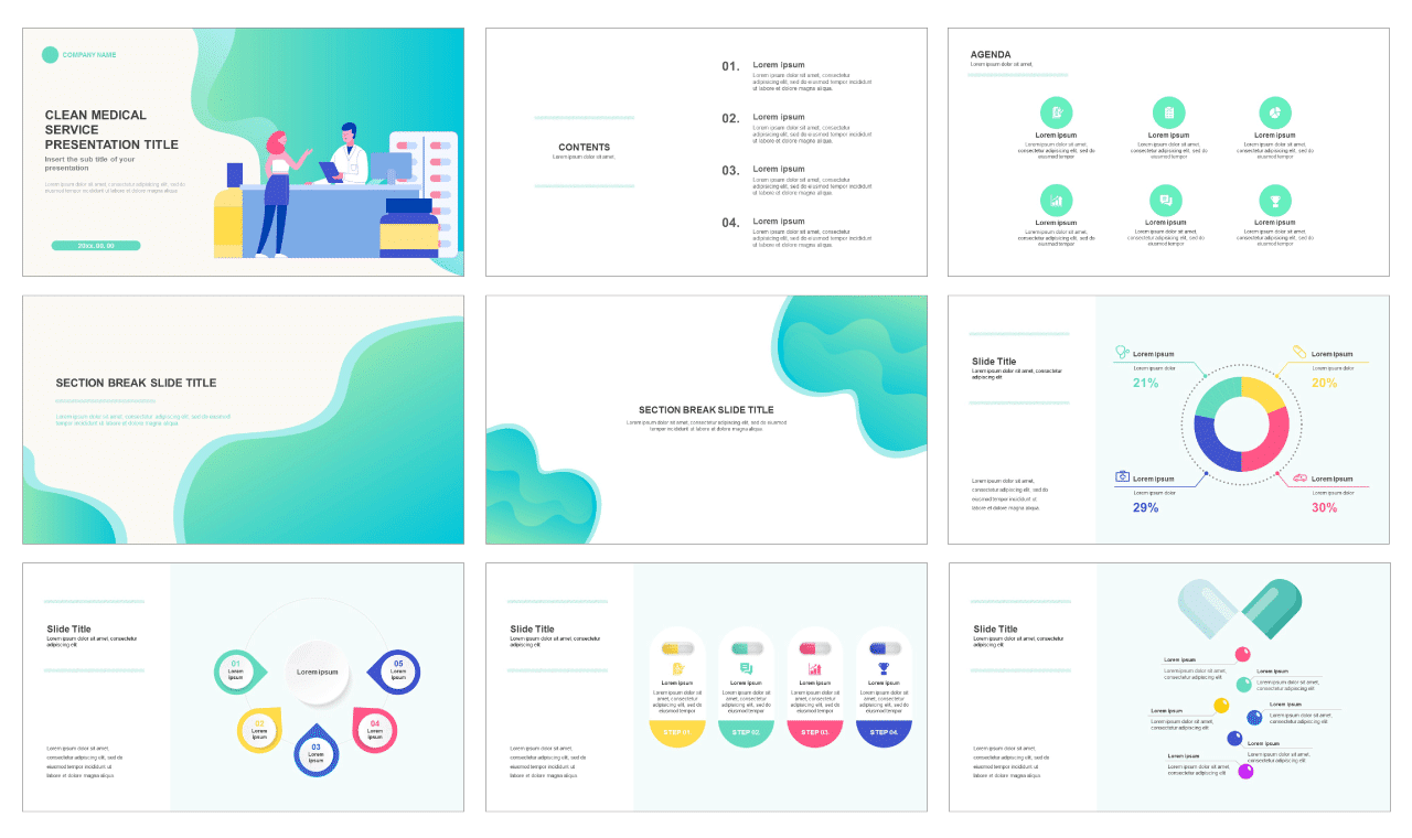 Health care pharmacy service Free google slides theme and powerpoint template