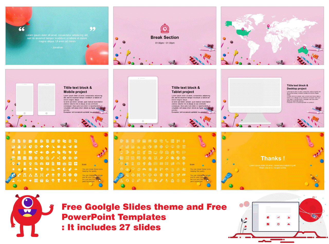 Education Google slides theme and PPT templates