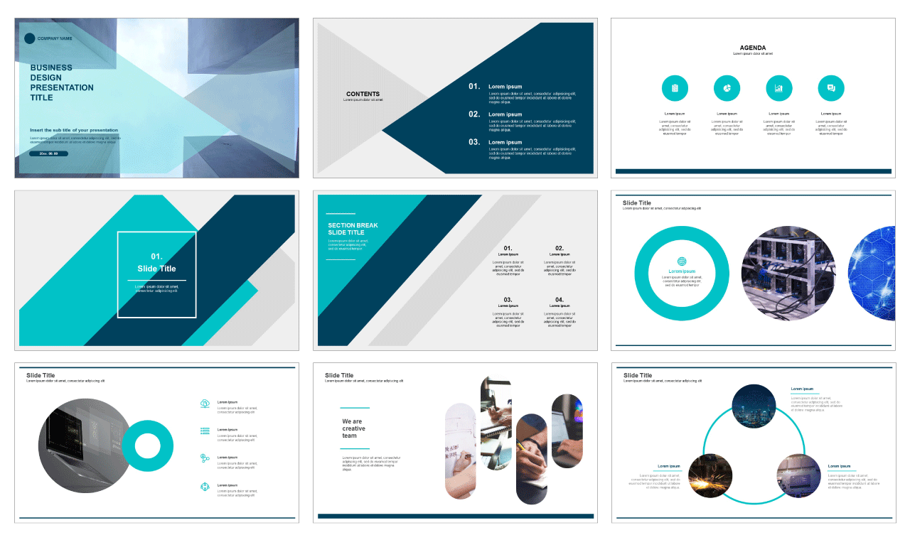 Business design free Google slides theme and powerpoint template