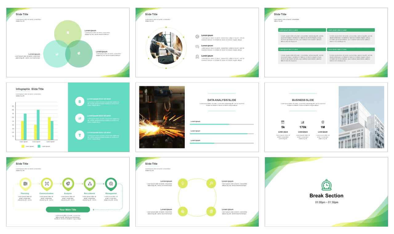 Clean business report Free PPT template and google slides theme-PPTMON