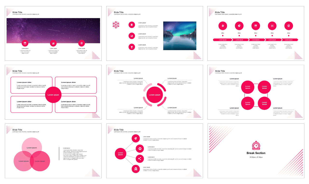 02-Line design Free powerpoint PPT template and Google slides presentation theme - PPTMON