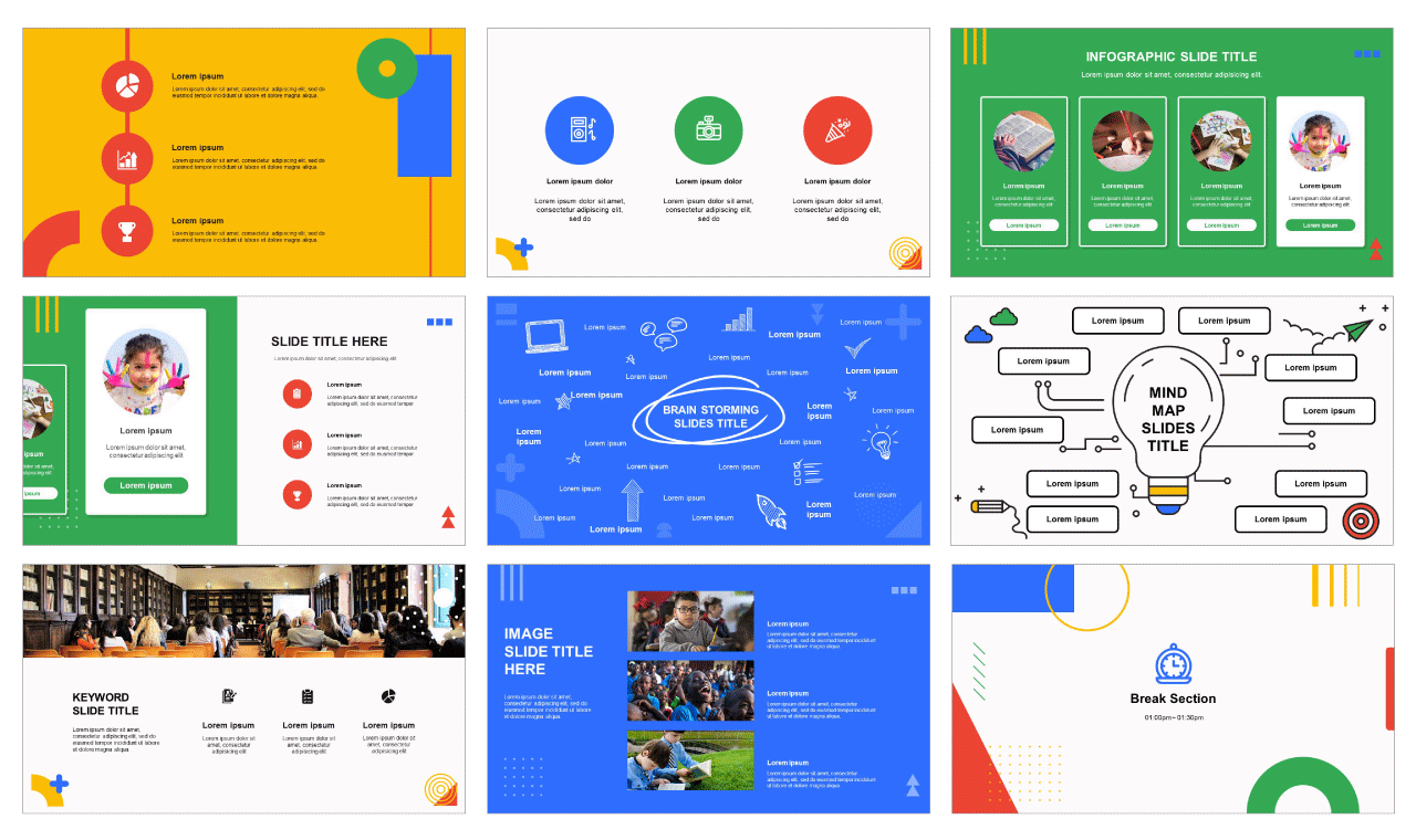Education Report ppt design