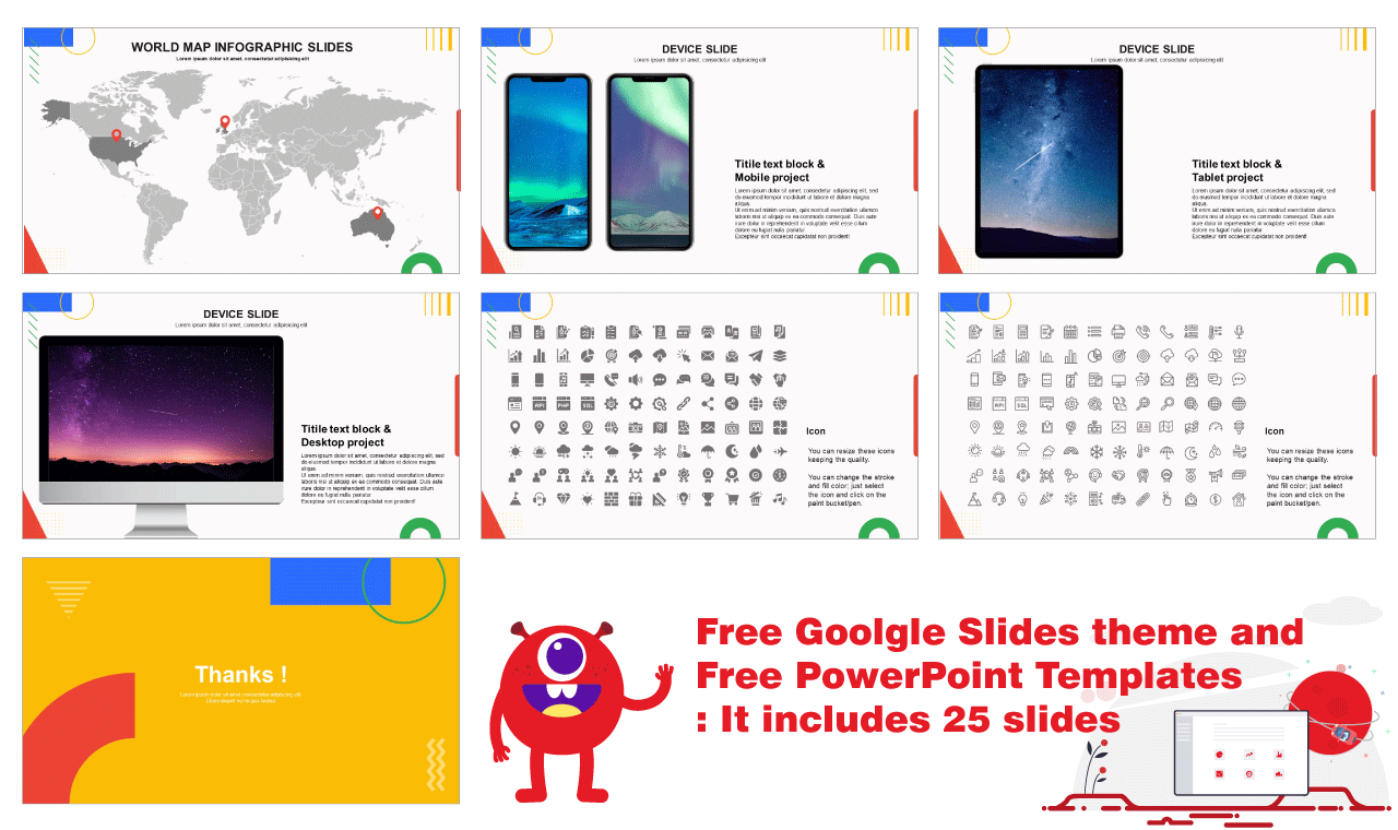Education Report Free ppt template and Google sldies theme background image