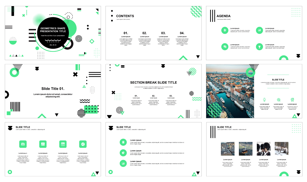 Geometrics Free powerpoint templates and Free google slides theme