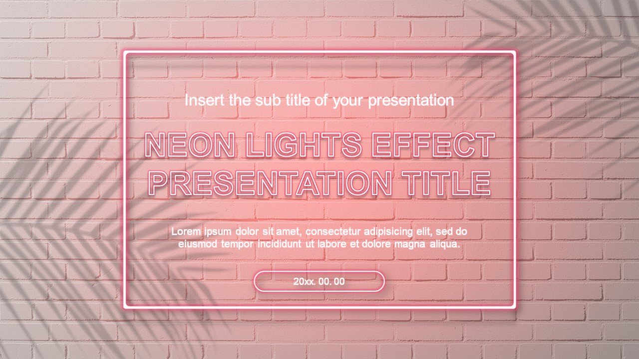 Neon Lights Effect Free Google Slides Theme And Powerpoint Templates