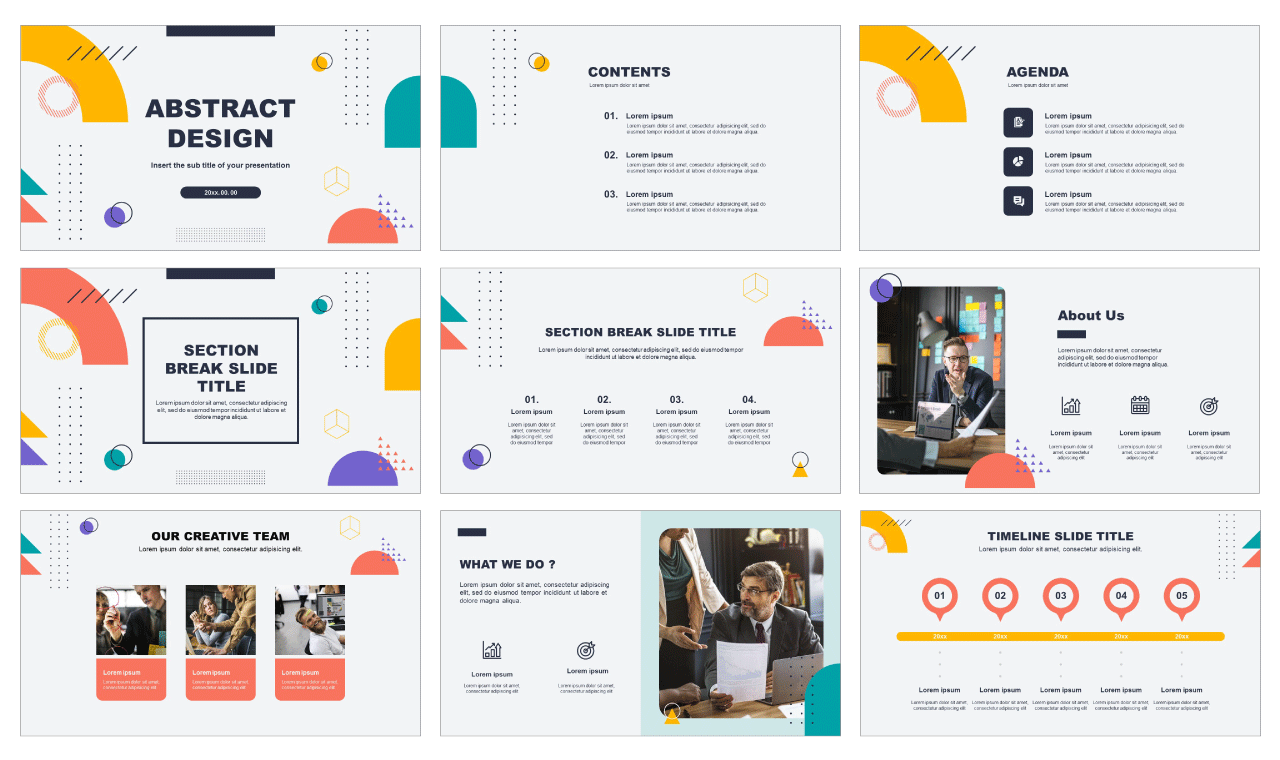 Abstract Free powerpoint templates