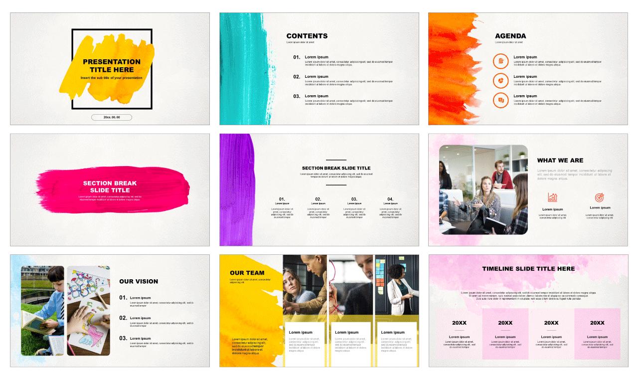 Brush Design Free Presentation Templates Powerpoint And Google Slides