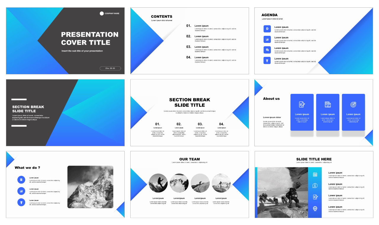 Solid Free powerpoint templates