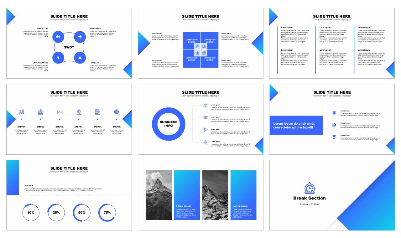 Solid Google slides theme