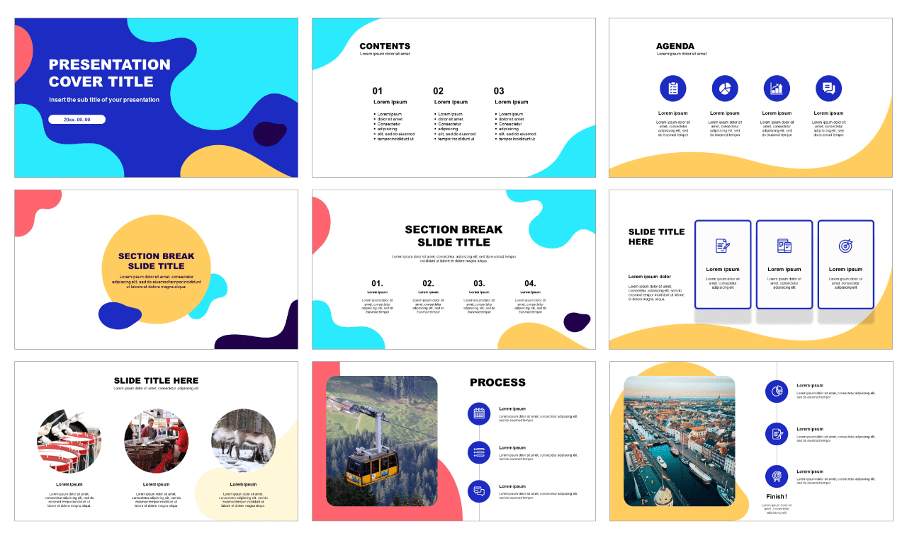 Wave Free powerpoint templates