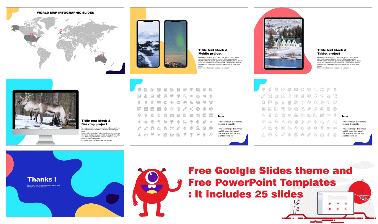 Wave PPT template Free download
