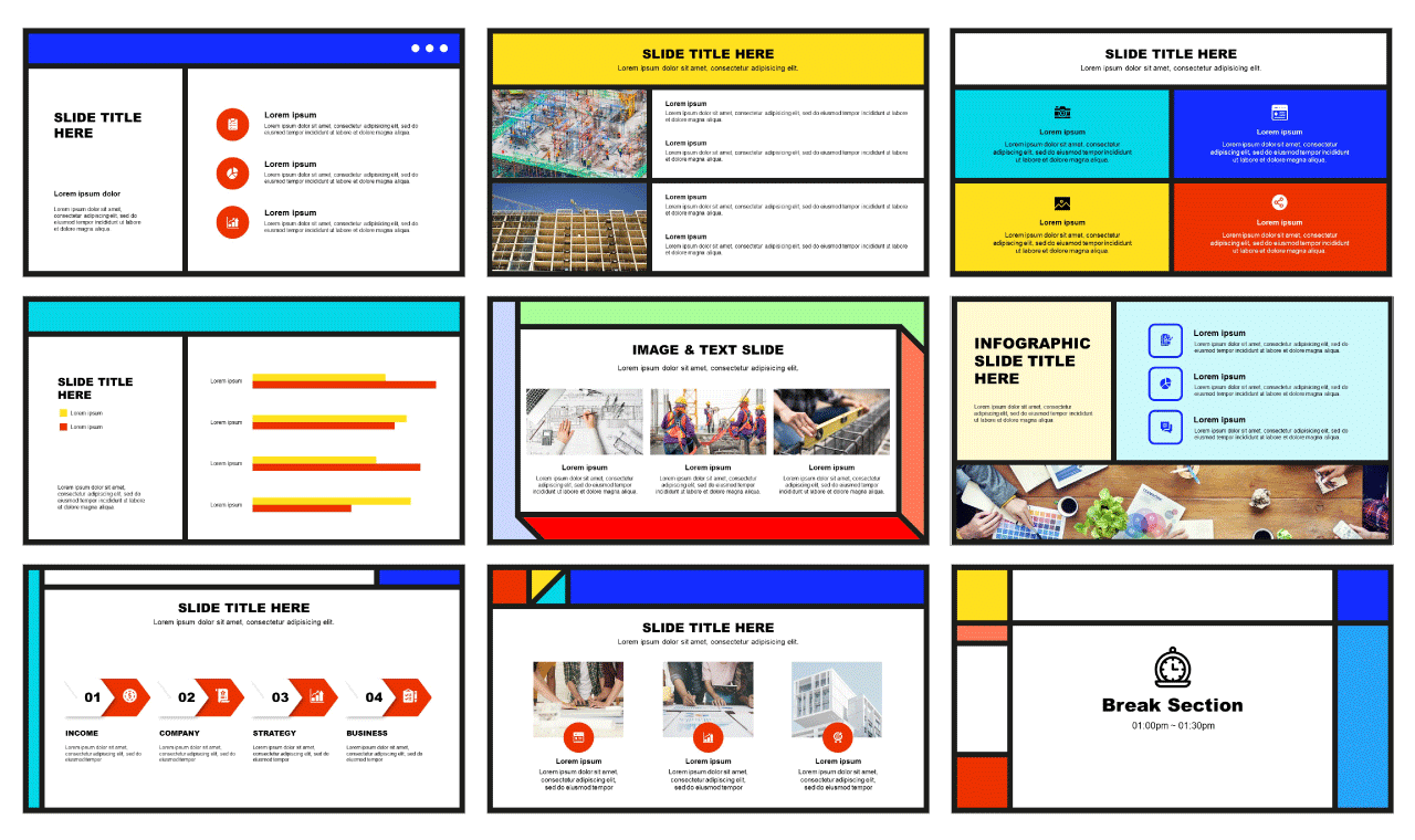 Memphis Google slides theme