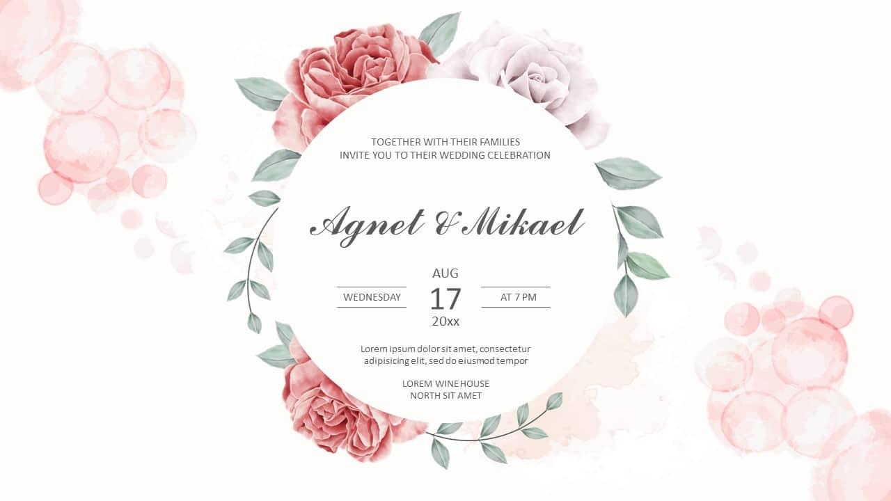Wedding Invitation Free presentation templates - PowerPoint Google