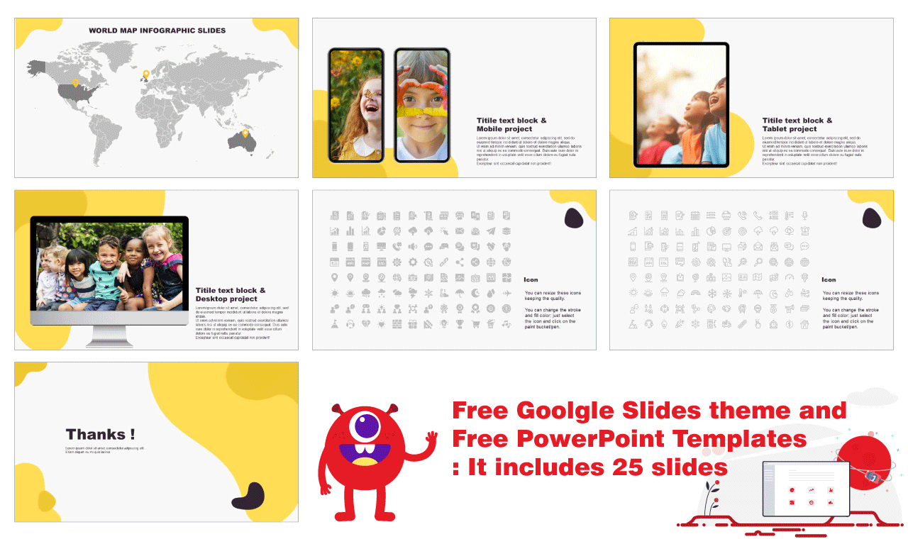 Device slides Powerpoint templates Free download
