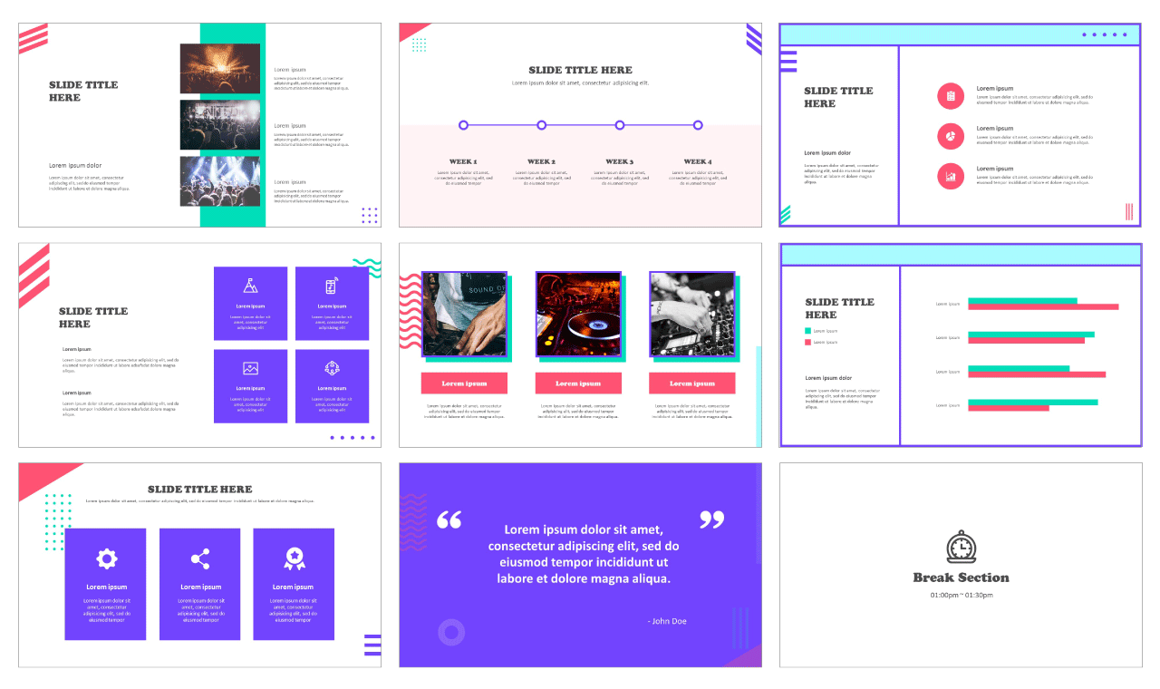 Geometric frame for Google slides and PowerPoint
