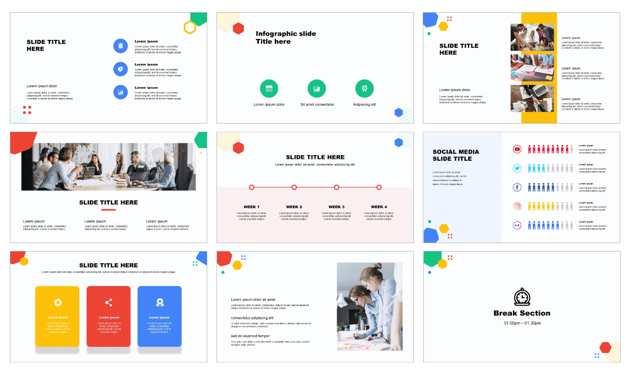 Google slides theme Design
