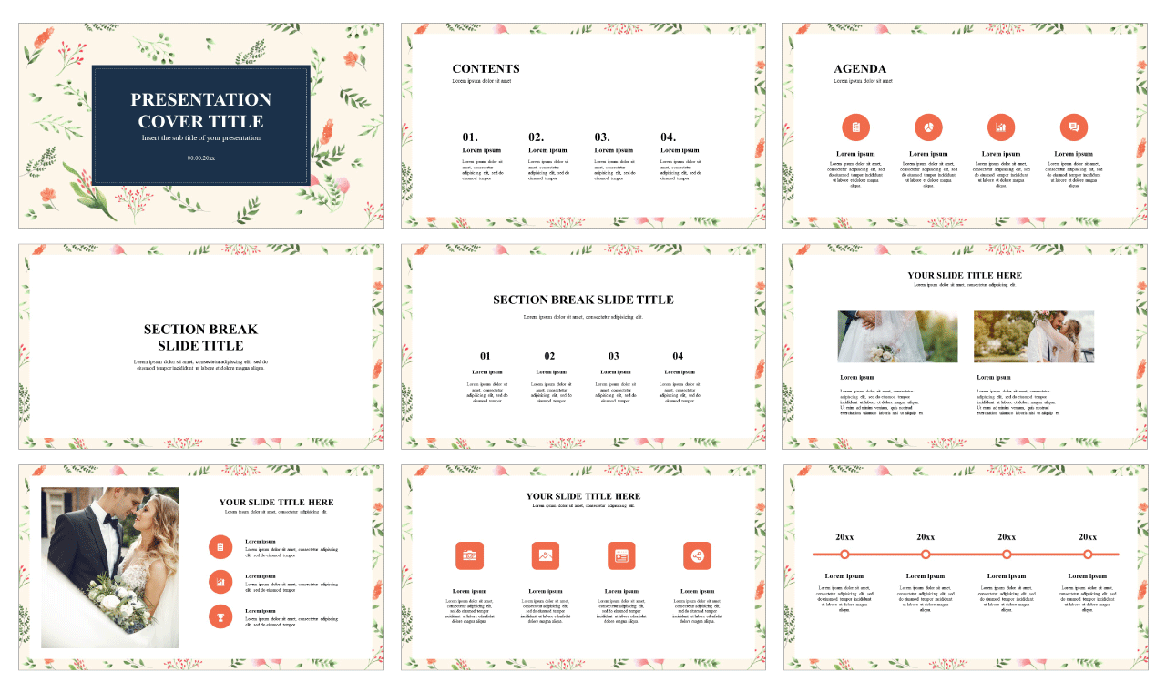 Floral Free Google slides theme PowerPoint templates