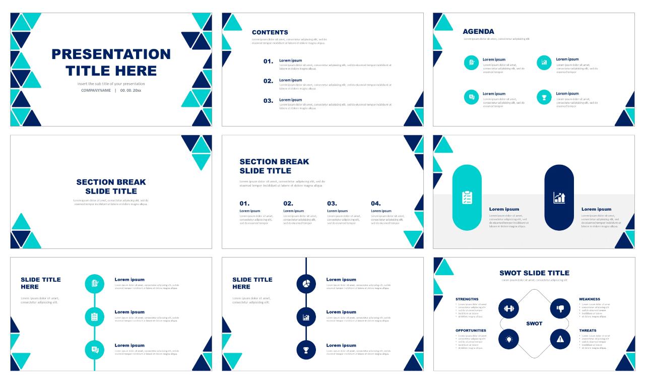 Modern Free PowerPoint templates