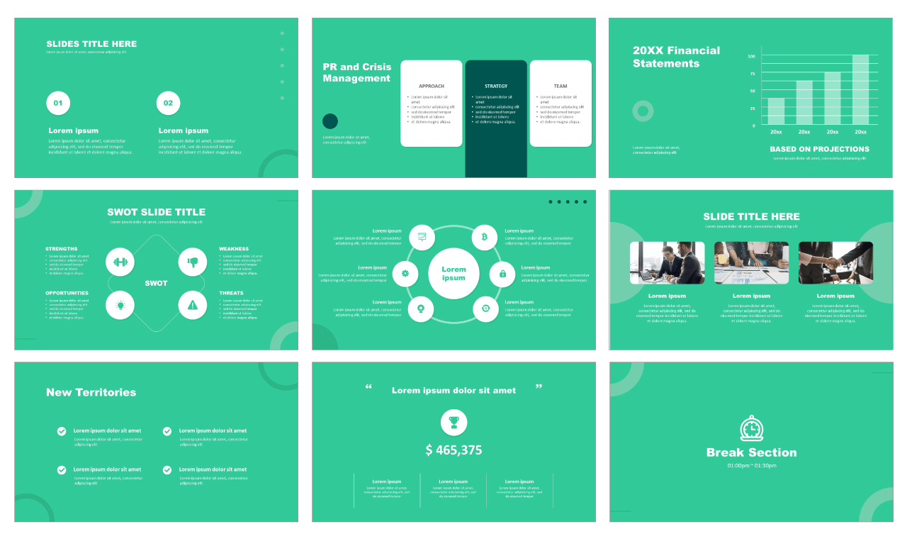 Modern Free PowerPoint templates