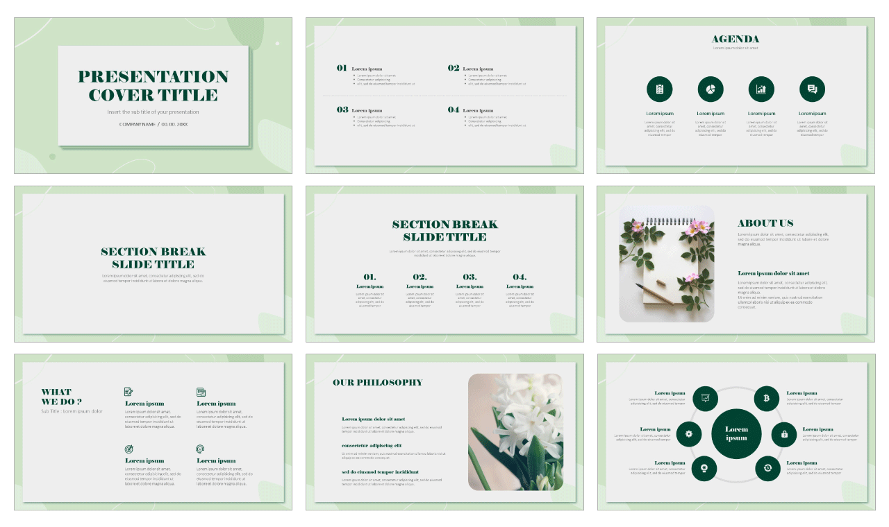 Organic Free Google Slides Theme PowerPoint Templates