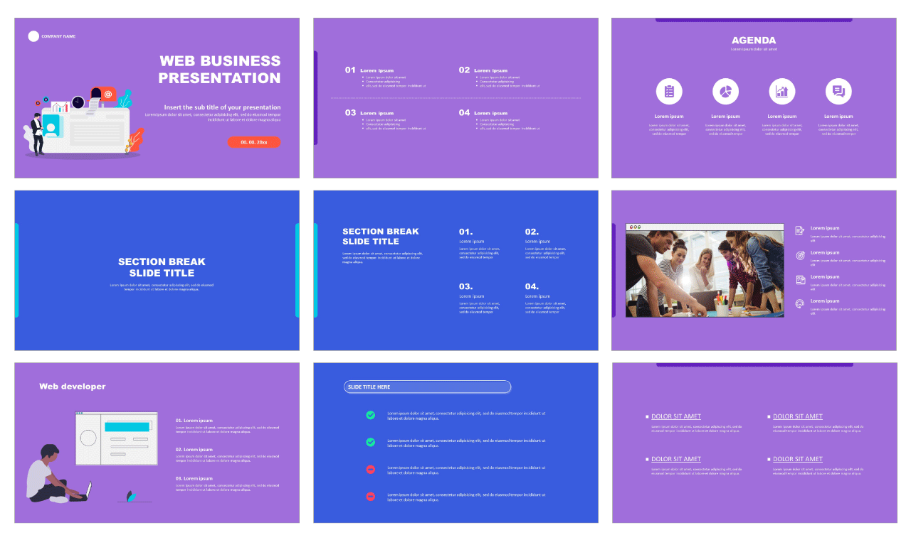 Web Business Free PowerPoint templates