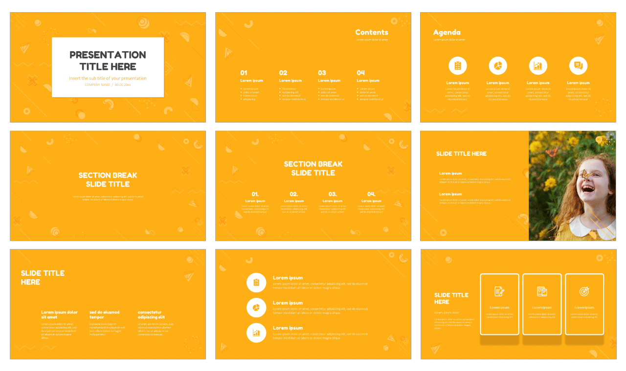 Abstract Free PowerPoint templates Google Slides theme