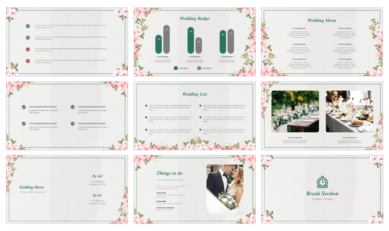 Beautiful Wedding Free Google Slides PPT Templates Download