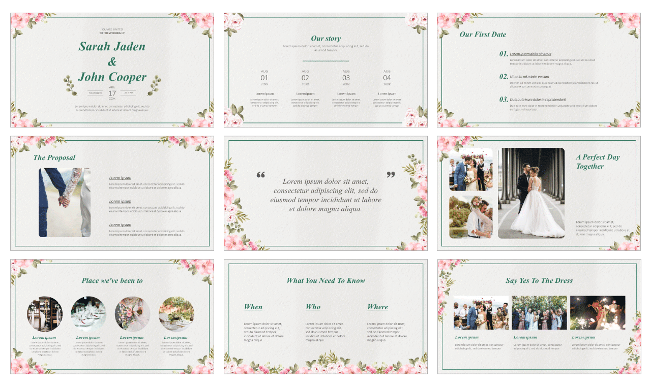 Beautiful Wedding Free Google Slides Themes PowerPoint Templates
