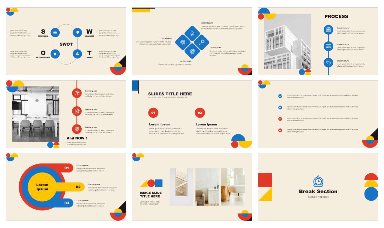 Best Bauhaus Free Google Slides Templates
