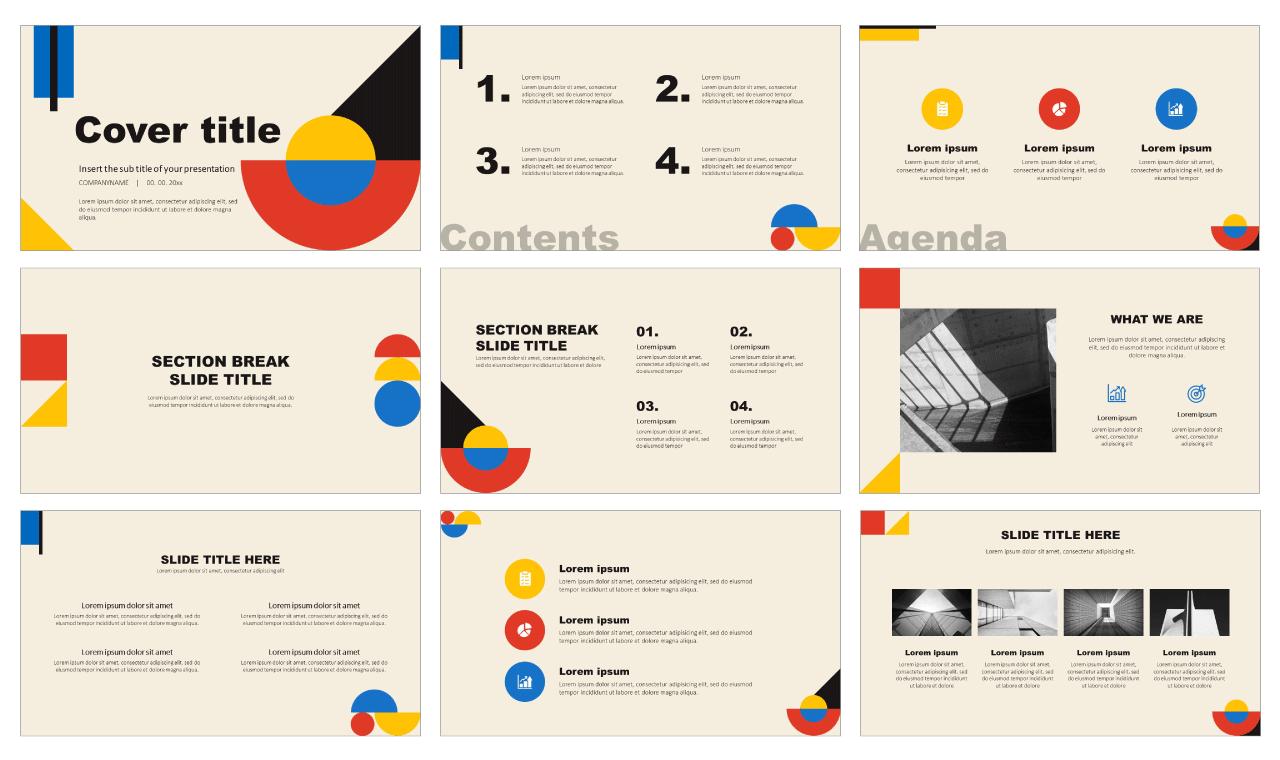 Best Bauhaus Free PowerPoint Templates Google Slides Theme
