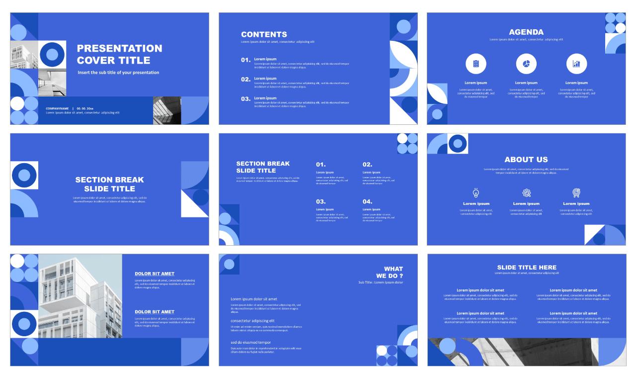 Best Geometry Free Google Slides Theme PowerPoint Templates
