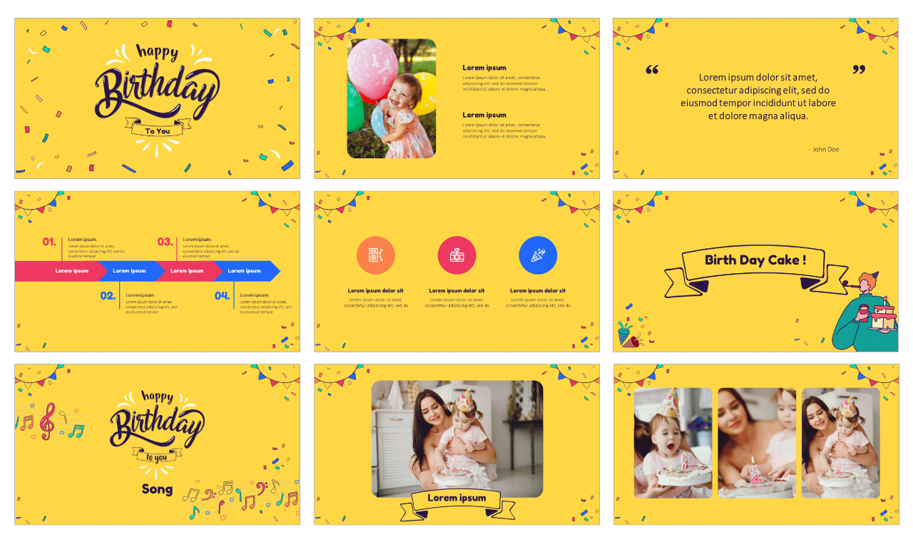 Birthday Party Free PowerPoint Templates Google Slides Theme