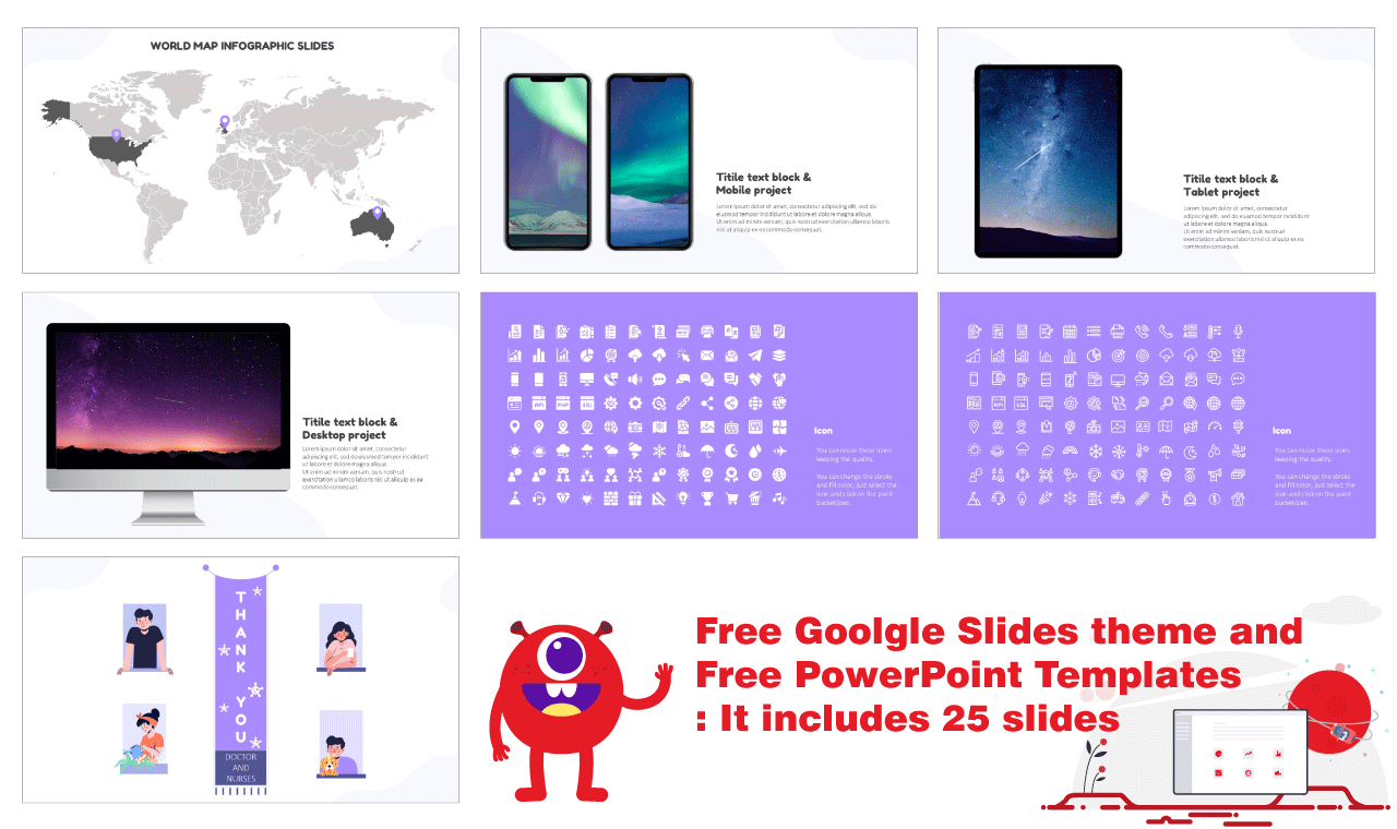 Device for Google Slides PowerPoint Templates