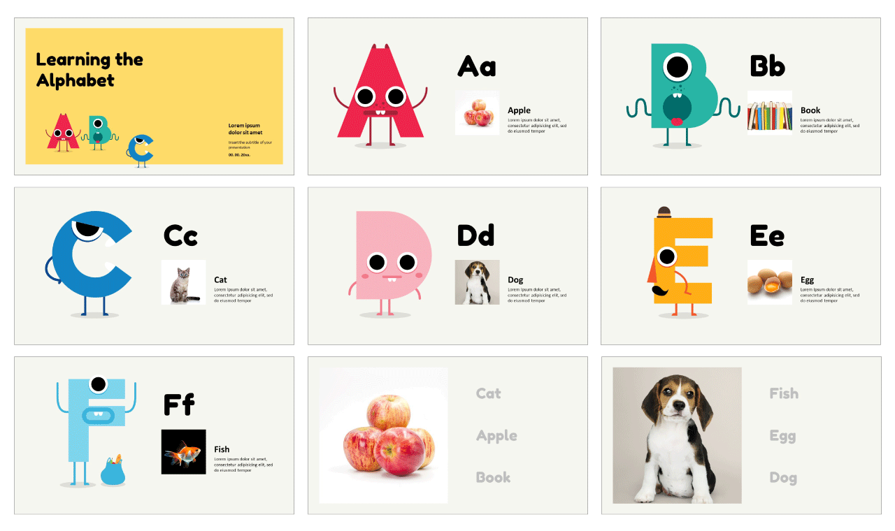 Learning the Alphabet Free Google Slides Themes