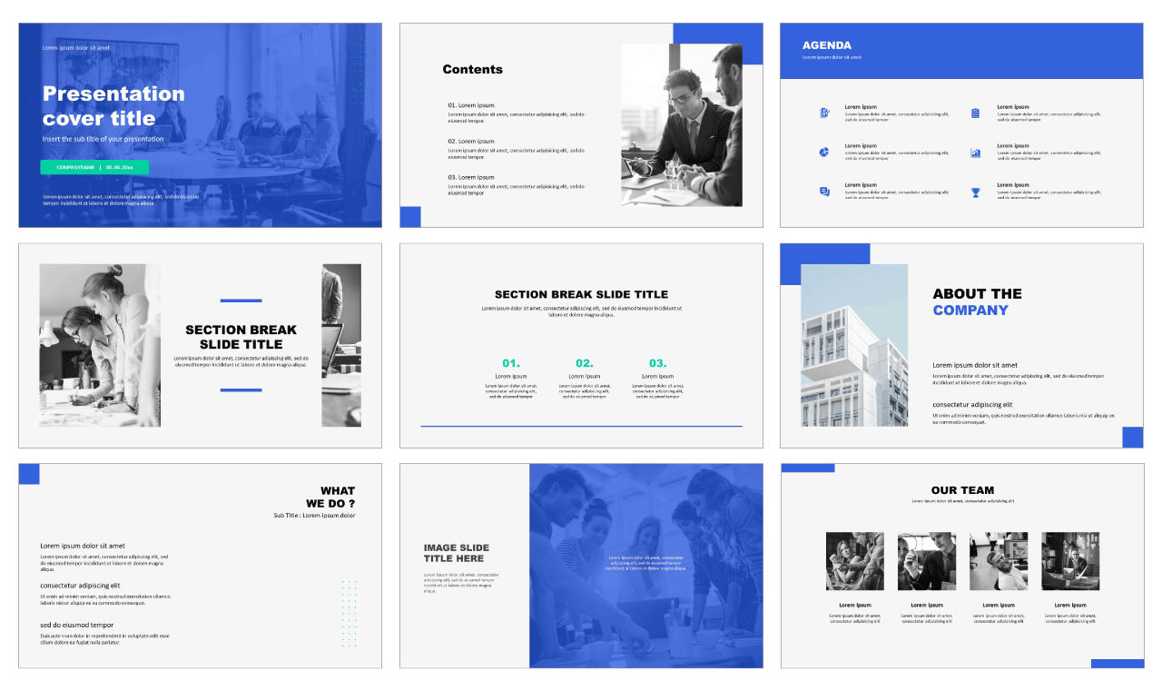 Minimal Business Free PowerPoint templates
