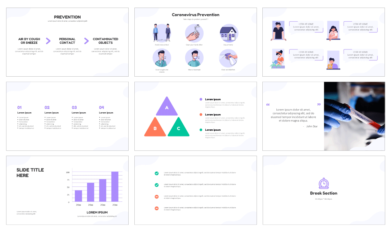 STAY at home STOP covid-19 Free PowerPoint Templates