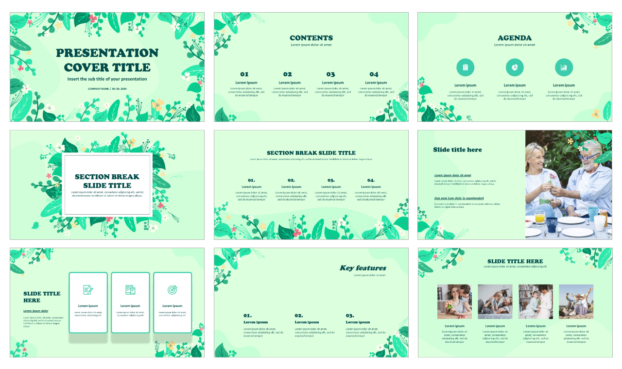 Spring Summer Free Google Slides themes PowerPoint templates