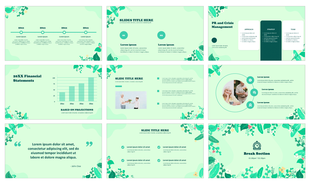 Spring Summer Free PowerPoint templates