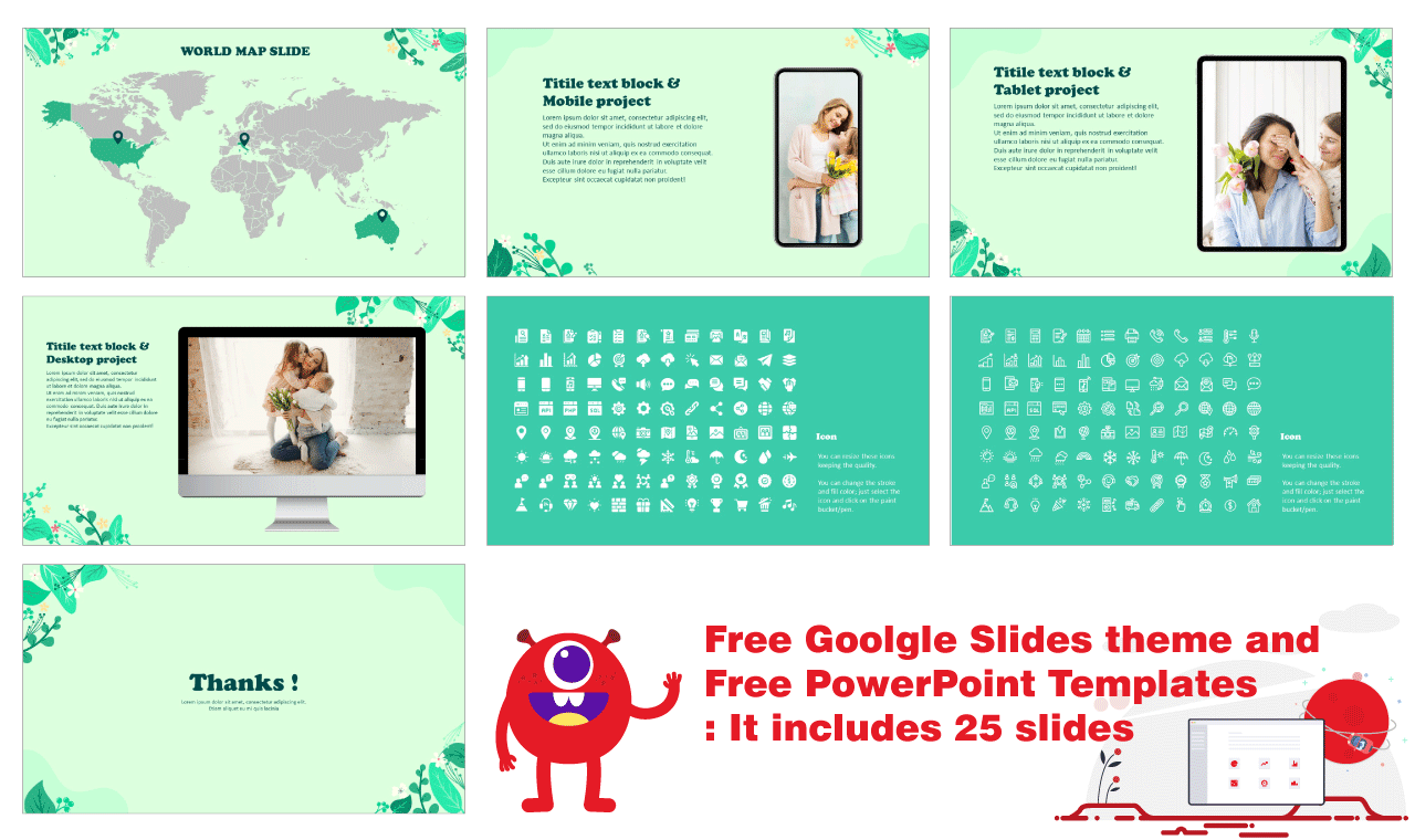Spring Summer Google Slides themes