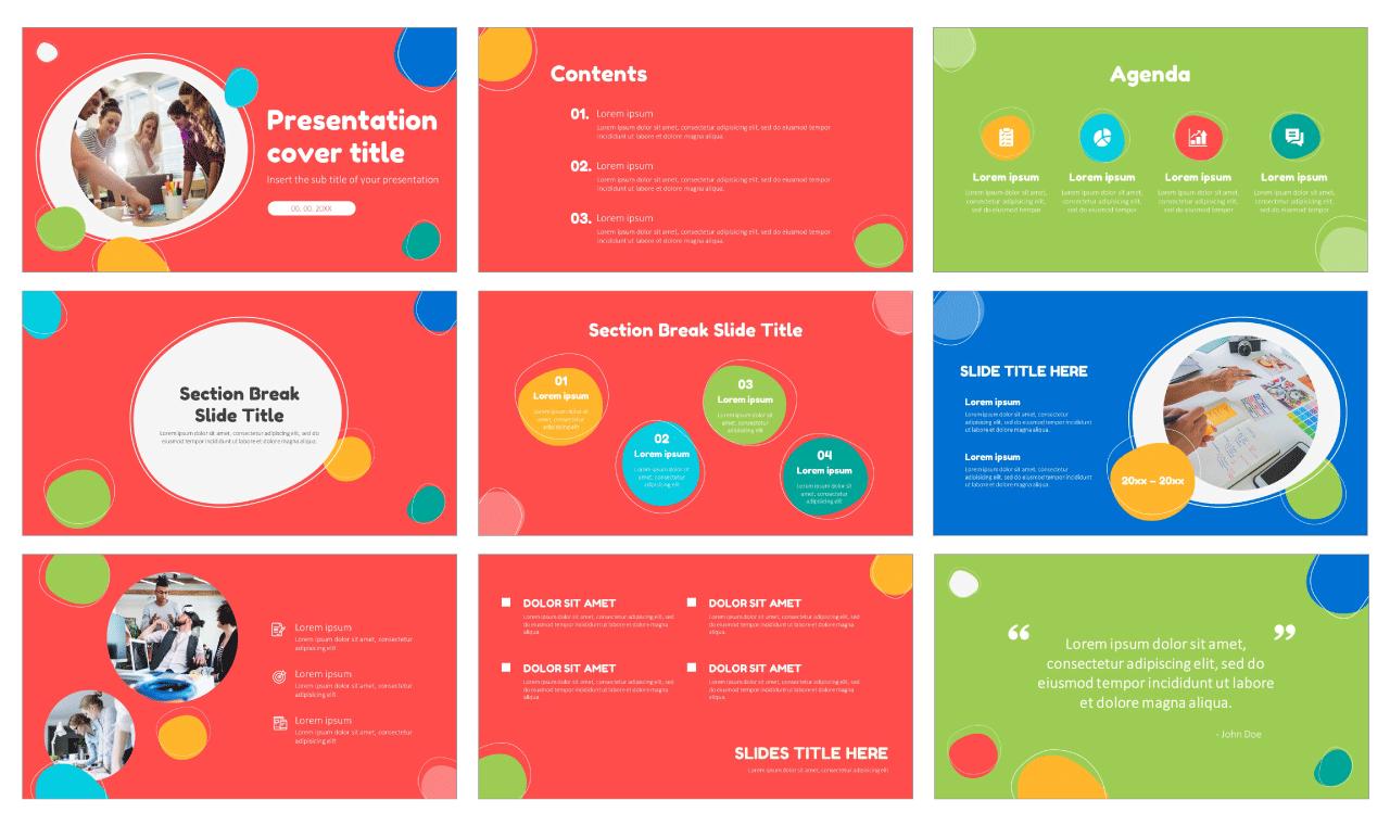 Creative Bubble Free Google Slides Themes