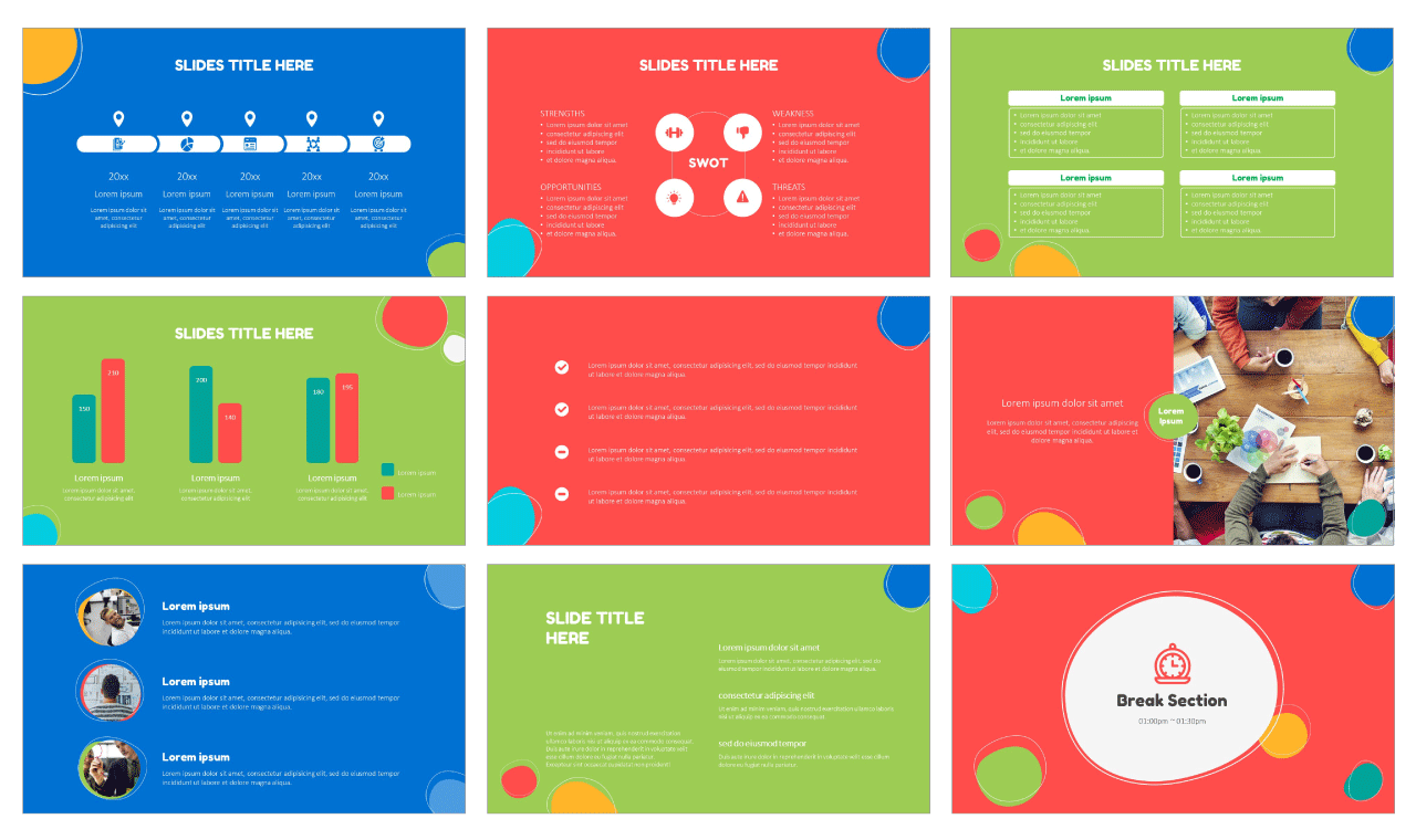 Creative Bubble Free PowerPoint Templates