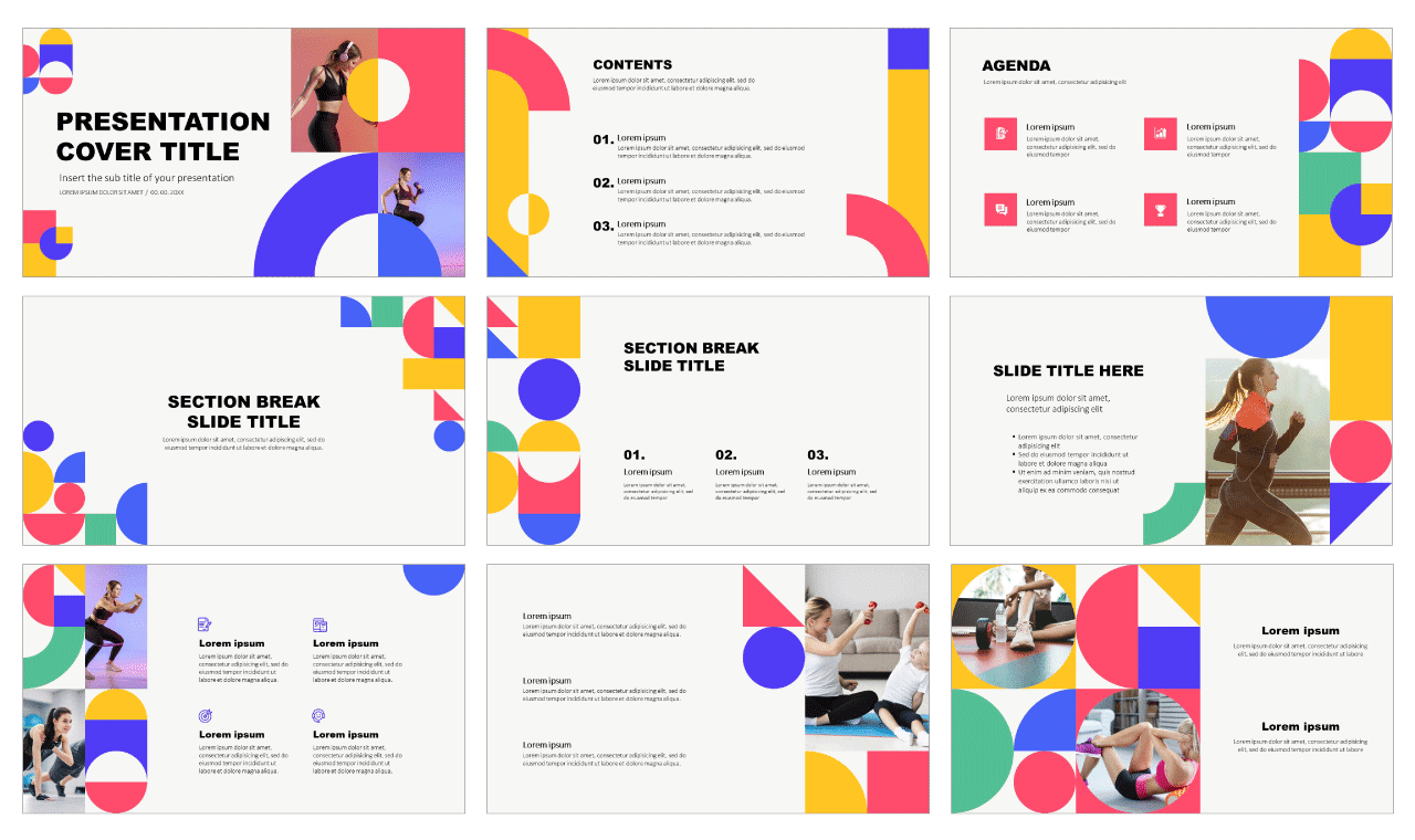 Fun Geometric LOOKBOOK Free PowerPoint Templates