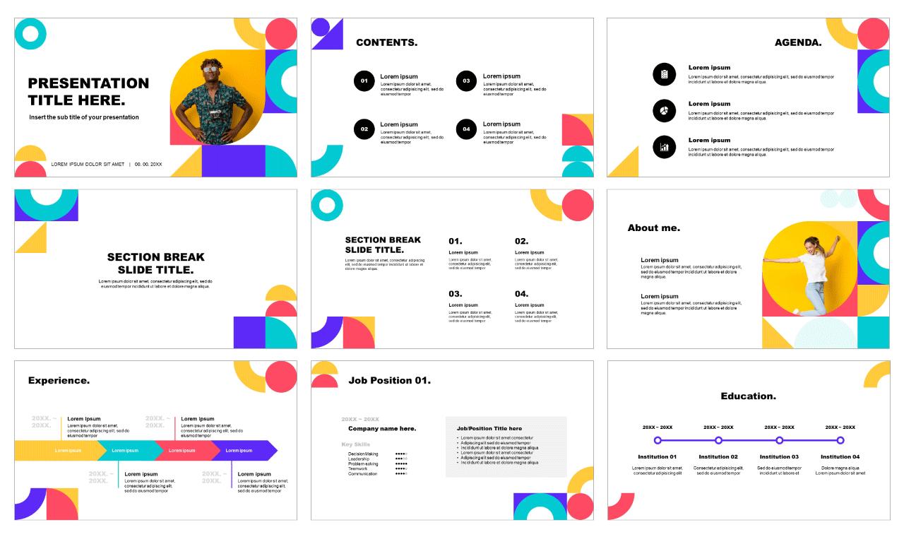 Geometric CV Free Google Slides Themes