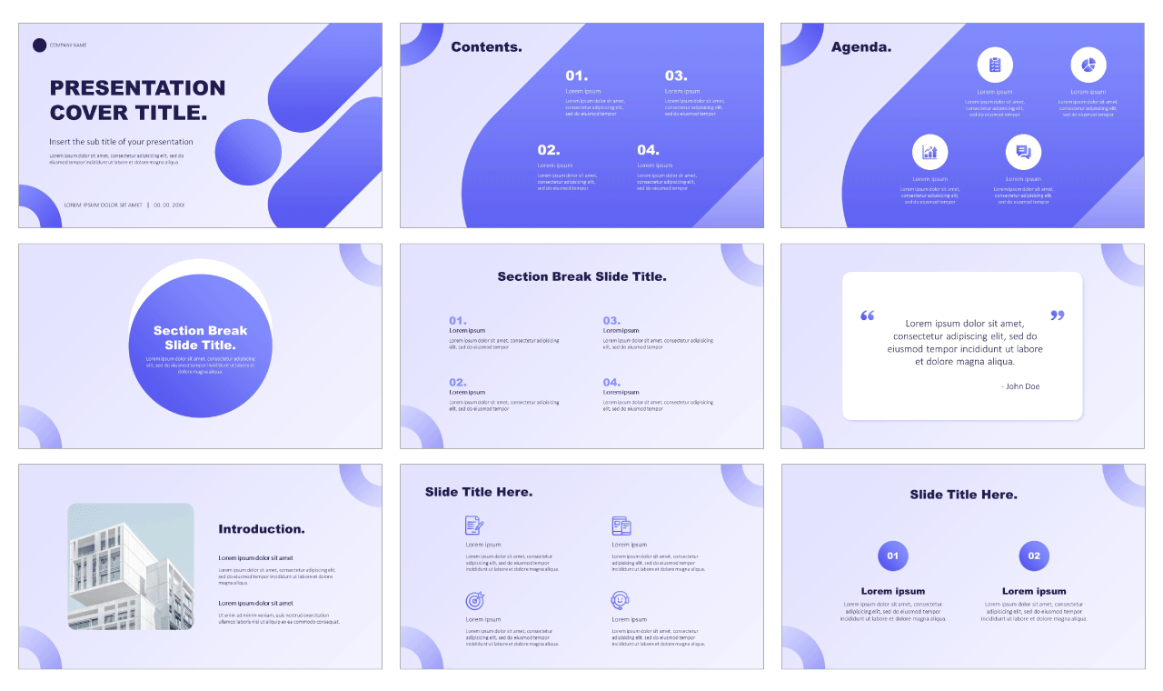 Geometry Minimal Free PowerPoint Templates Google Slides Themes