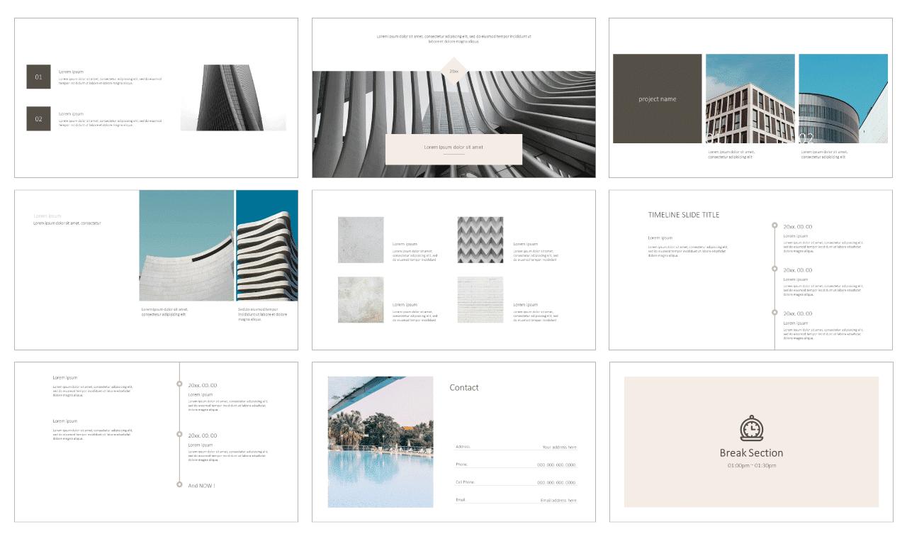 Minimal Architecture Portfolio Google Slides Themes